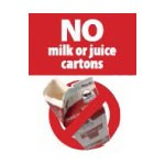 No Milk or Juice Cartons