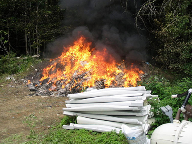 NWSWD Illegal burn site