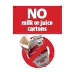 No Milk or Juice Cartons